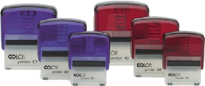 Some of the Colop range of self inking rubber stamps